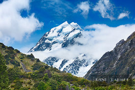 Mountain impression Mount Cook seen from Hooker Valley - Oceania, New Zealand, South Island, Canterbury, Mackenzie, Aoraki Mo...