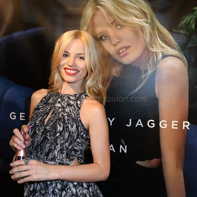 Georgia May Jagger x Morgan : Capsule Collection Launch At The Champs Elysees In Paris