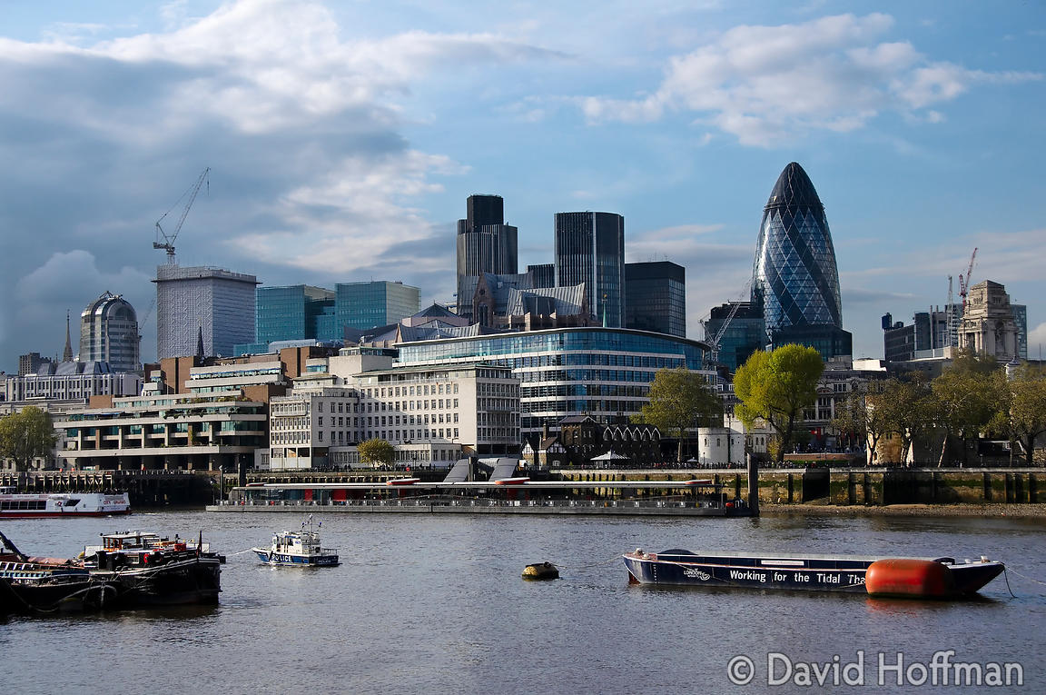 View of the City of London from City Hall on the South Bank of the Thames
