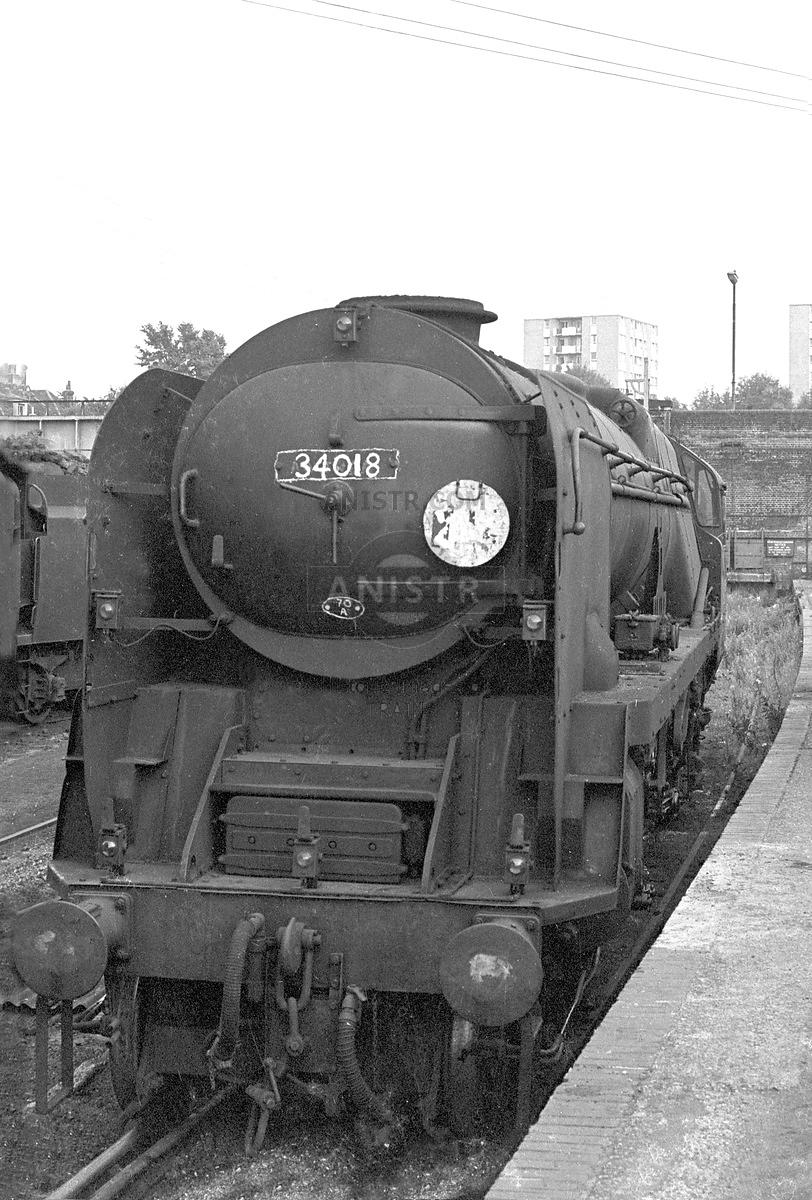Steam loco WC 34018 Guildford