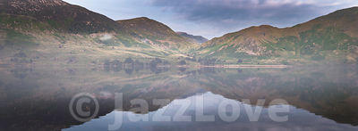 Morning at Crummock water in Lake District, Cumbria,UK