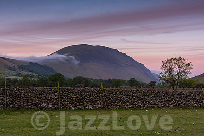 Sunrise  landscape scene in Lake District,Cumbria,Uk.