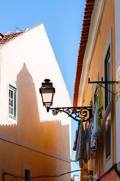 Architectural details, Alfama district, Lisbon, Portugal