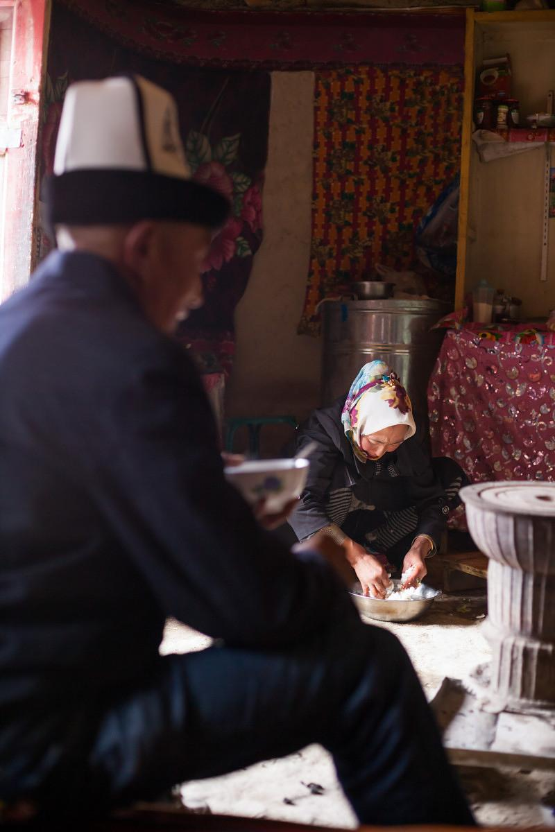 One day in the life of a kyrgyz family