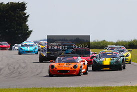 Start of the Race, Craig Denman - Rob Anderson Motorsport Elise S1 leads