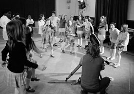 #74759,  Anna Scher Children's Theatre, North London 1972.  Kids would come after school and be expected to work hard.  Occas...