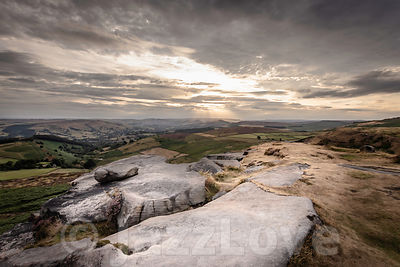 Idyllic landscape of Peak District National Park, Derbyshire, Uk.