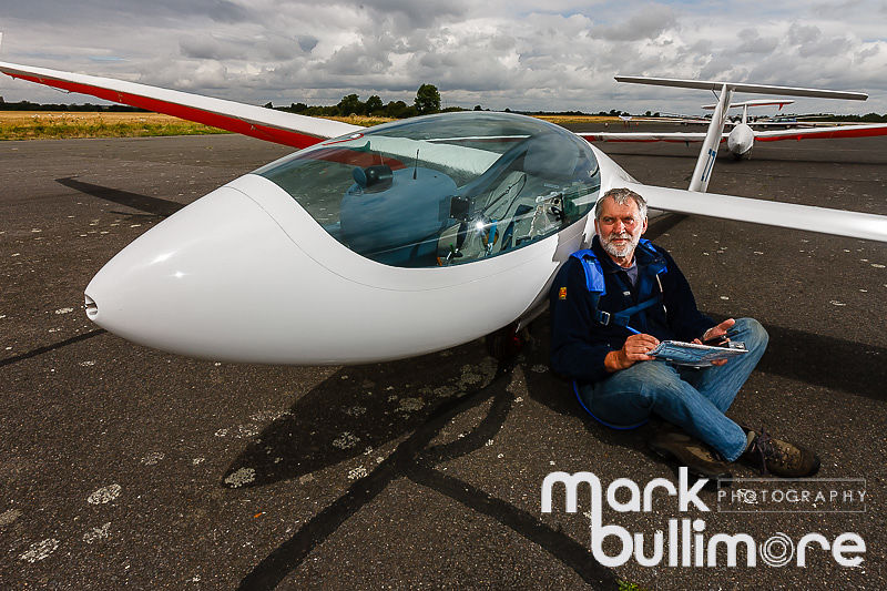 National Open Gliding competition at Tibenham Airfield - pictured is John Williams from the Scotish Gliding Centre and his An...