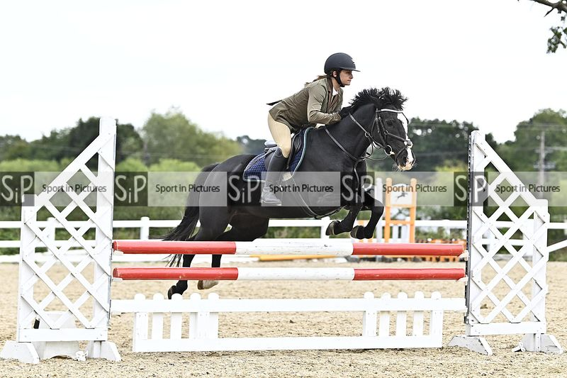 Stapleford Abbotts. United Kingdom. 27 September 2020. Unaffiliated showjumping. MANDATORY Credit Garry Bowden/Sport in Pictu...