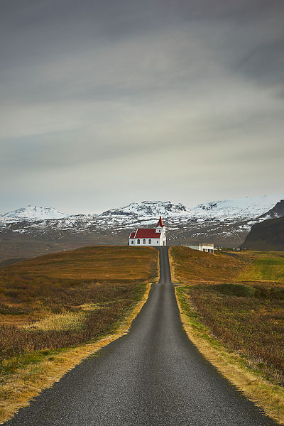 Iceland Church in the mountain