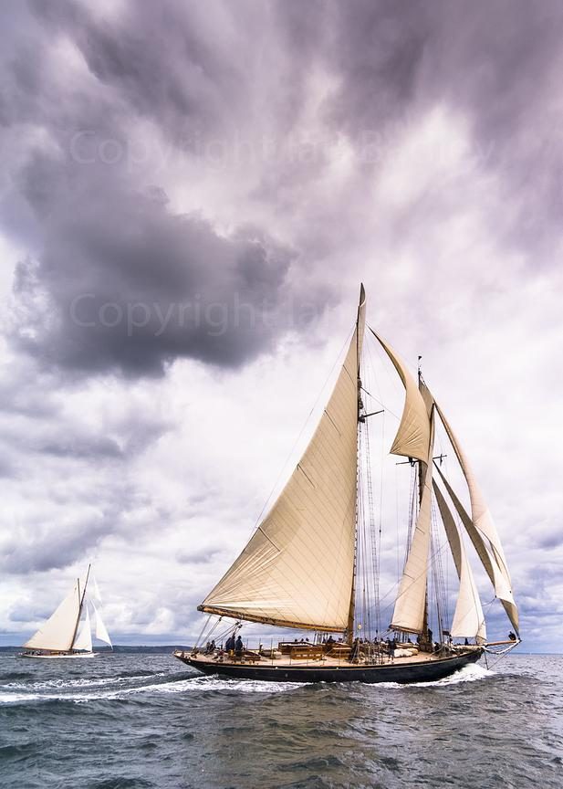 Classic yacht 'Mariette of 1915' Sailing in the English Channel off Falmouth