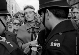 #70439,  Vanessa Redgrave (holding the letter to the US Ambassador) leads the march, anti-Vietnam war demonstration from Traf...