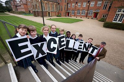 Independent school's inspectorate have given Gresham's School in Holt Excellent. Pictured are some of the pupils and headmast...
