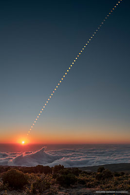2016 - France - Reunion Island - Multiple exposure of the annular eclipse of the sun