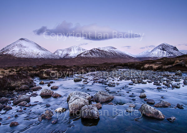 Alpen light on the Cuillin mountains, Skye