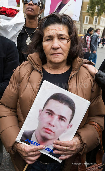 25.10. 08. London. The mother of Jean Charles de Menezes at the annual UFFC march of the friends and the families of people w...