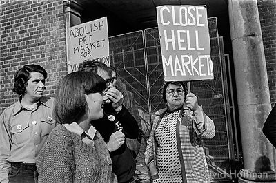 Demonstration against the fur trade and for animal rights,   London February 1983.