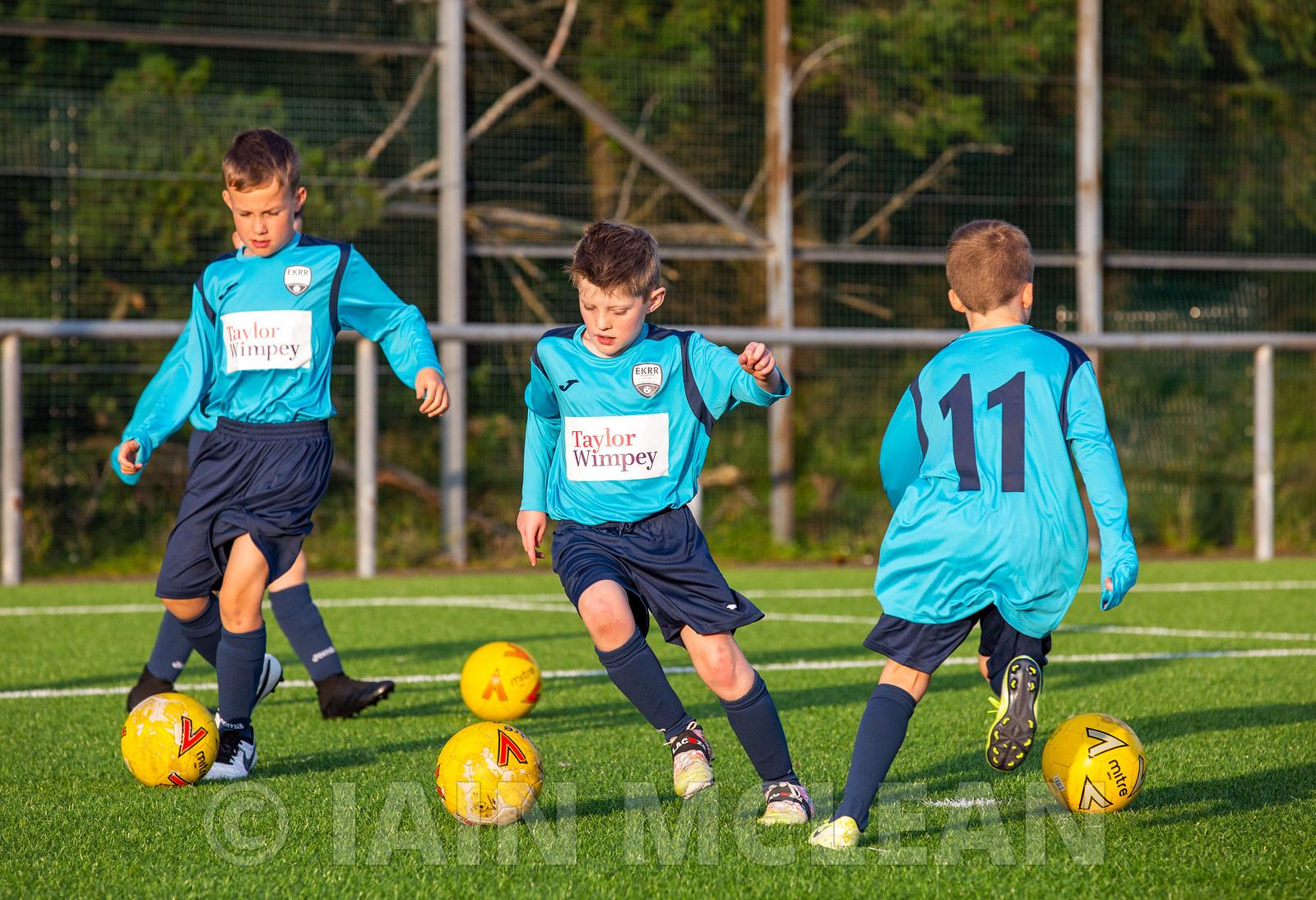 Ballerup Recreation Pitches, East Kilbride..17.9.20..Taylor Wimpey have sponsored EKRR Youth 2011s with new strips..Here are ...