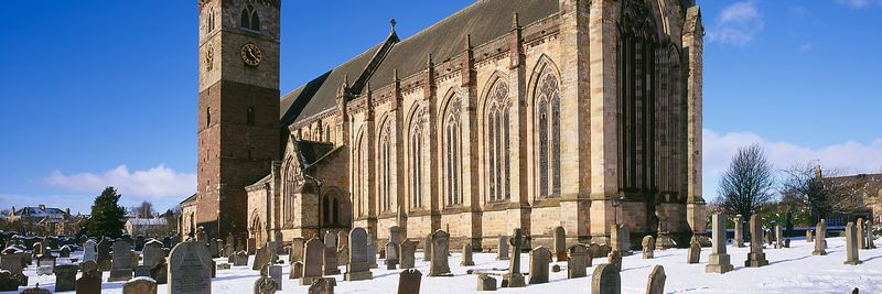 Image - Dunblane Cathedral, Winter panoramic snow