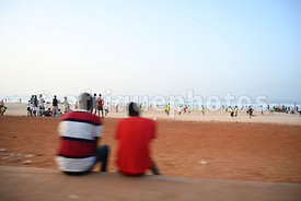 Public soprt by evenings, Malibu beach, Dakar