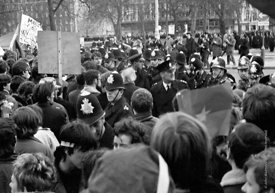 #70450,  Protestors enter Grosvenor Square and scuffles with police begin, anti-Vietnam war demonstration march from Trafalga...