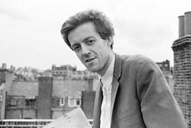 #74836,  Cornelius Cardew (1936-1981), avant-garde musician and composer, on the rooftops, Fitzrovia, London.  3rd July 1970.