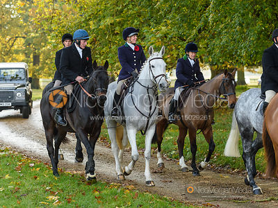 Dale Peters, Etti Dale arriving at the meet - Fitzwilliam Hunt Opening Meet