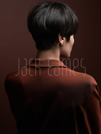 Back of a Woman With Beautiful Short Shiny Black Hair