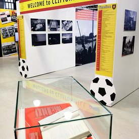Game of Two Halves opening night (VIP) at Summerlee Museum, Coatbridge..4.7.19..Picture Copyright:.Iain McLean,.79 Earlspark ...