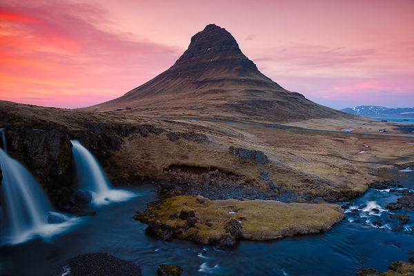 Kirkjufell after Sunset