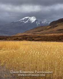 Image - Blaven viewed across reeds on Loch Cill Chriosd near Torrin, Isle of Skye, Scotland.