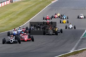 Start of Heritage Formula Ford, Josh Smith leading
