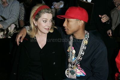 Catherine Deneuve & Pharrell Williams, Louis Vuitton's Fall-Winter 2006-2007 Ready-to-wear collection