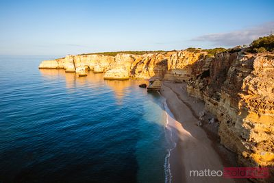 Praia de Marinha at sunrise, Faro, Algarve, Portugal