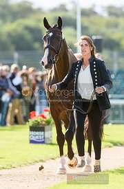 Ariel Grald and LEAMORE MASTER PLAN at the trot up, Land Rover Burghley Horse Trials 2019
