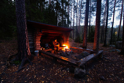 Lean-to Shelter in Isojärvi National Park