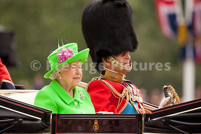 The Queen and Prince Philip return to Buckingham Palace after Trooping the Colour