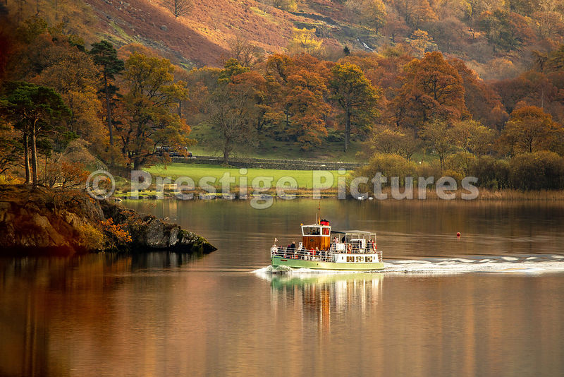 Autumn on Ullswater in the Lake District