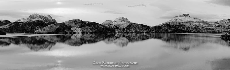 Image - Cul Mor, Cul Beag and Stac Pollaidh reflected in Loch Buine Moire, Inverpolly, Scotland
