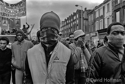 V79-9A Demonstration following the shooting of Colin Roach inside Stoke Newington Police Station, Hackney, 12 Feb 1983.