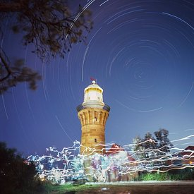 Star Trails over Fairytale Lighthouse