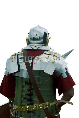 A roman gladiator – shot from mid level.