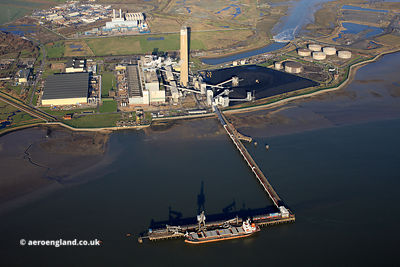 Kingsnorth power station  aerial photograph