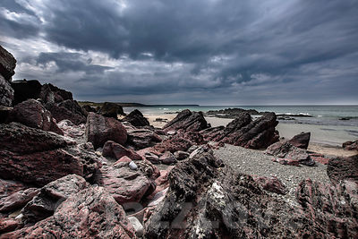 Rocky beach in Freshwater West.