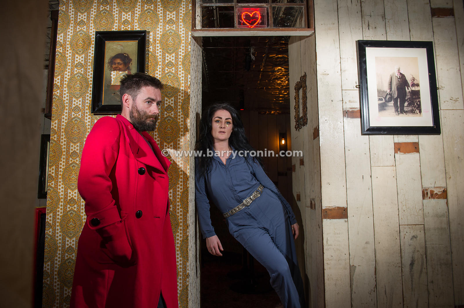 24th April, 2015. Fight Like Apes May Kay and Jamie photographed in the Liquor Rooms, Dublin. Photo:Barry Cronin/www.barrycro...