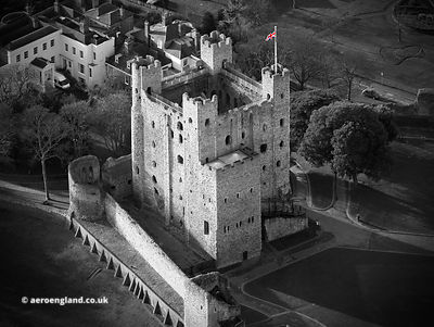 Rochester Castle aerial photograph