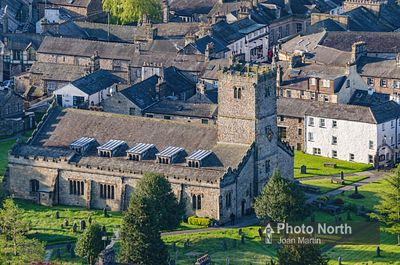 KIRKBY LONSDALE 04A - Aerial view of St. Mary's Church
