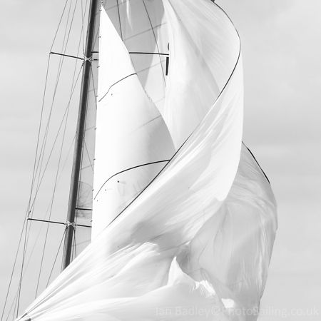 Twisted J Class sails abstract