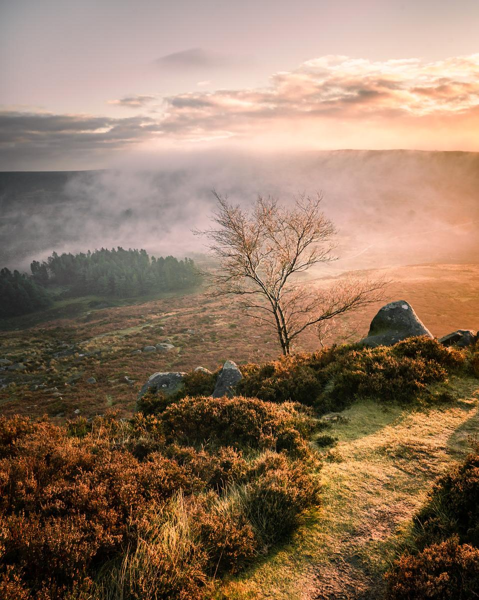 Hathersage Moor late autumn sunrise