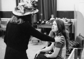 #74689,  Anna Scher Children's Theatre, Bentham Court Hall, Islington, North London 1972.  Kids would come after school and b...